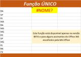 Função ÚNICO do Excel como usar