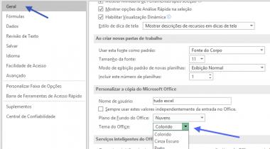 Personalização Ambiente Microsoft Excel