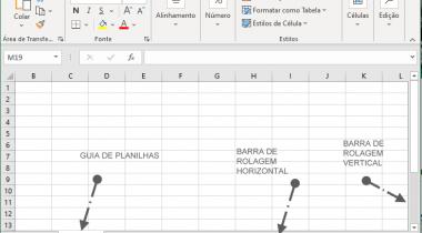 Ocultar a barra de rolagem e a guia de planilhas no Excel