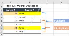 Como remover valores duplicados em uma planilha