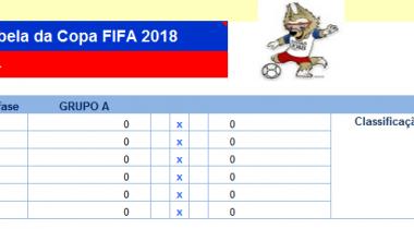 Tabela de Jogos da Copa FIFA 2018 na Rússia