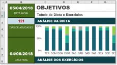 Tabela em Excel para Dieta e Exercícios